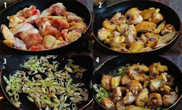 Cách làm món gà xào sả ớt