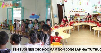 Bé 4 tuổi nên cho học mầm non ở trường công lập hay tư thục? 3