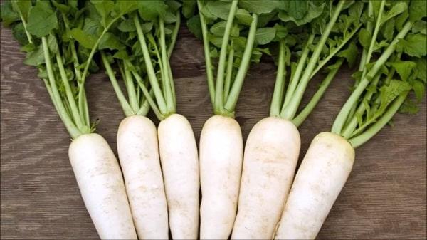 Củ cải có tác dụng khắc phục bệnh táo bón
