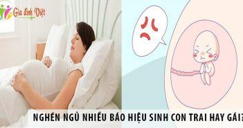 Nghén ngủ nhiều báo hiệu sinh con trai hay gái?