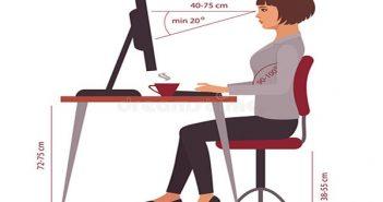 khoảng cách từ mắt đến màn hình máy tính