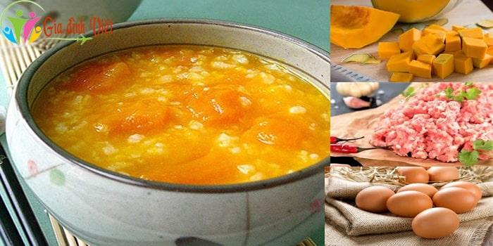 Cách nấu súp bí đỏ cho bé ngon với thịt heo và trứng gà