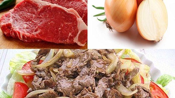 cách chế biến thịt bò xào hành tây