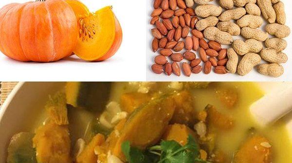 Cách nấu canh bí đỏ đậu phộng chay