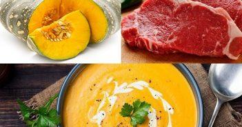 Cách nấu súp bí đỏ thịt bò