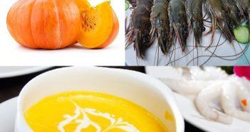 Cách nấu súp bí đỏ tôm