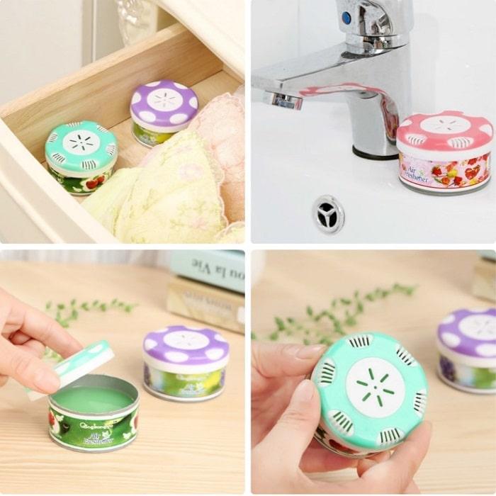 Đặt sáp thơm khử mùi trong nhà vệ sinh