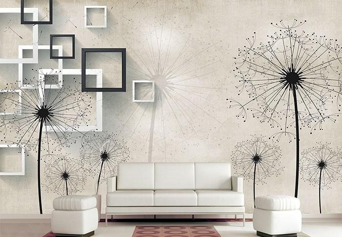 Giấy dán tường phòng khách cần sự sang trọng, lịch sự
