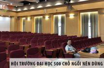 Thiết kế hội trường đại học 500 chỗ ngồi nên dùng ghế gì?