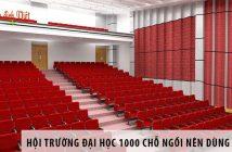 Thiết kế hội trường đại học 1000 chỗ ngồi nên dùng ghế gì?