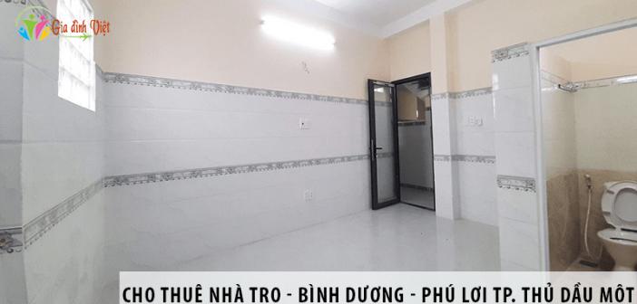 Cho thuê nhà trọ - Bình Dương - Phú Lợi tp. Thủ Dầu Một