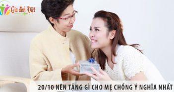 20/10 nên tặng gì cho mẹ chồng ý nghĩa nhất
