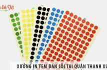 Xưởng in tem dán lỗi uy tín, giá rẻ tại Quận Thanh Xuân