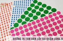 Xưởng in tem dán lỗi uy tín, giá rẻ tại Quận Long Biên