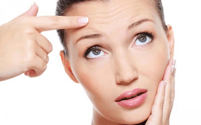 Da xuất hiện nếp nhăn là dấu hiệu rõ ràng của tình trạng lão hóa da