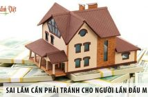 Năm sai lầm cần phải tránh cho người lần đầu mua nhà